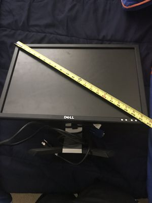 "Dell 20"" viewable LCD monitor with VGA cord for Sale in Tampa, FL"