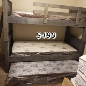 TWIN OVER TWIN BUNK BED W/ MATTRESS INCLUDED for Sale in Norwalk, CA