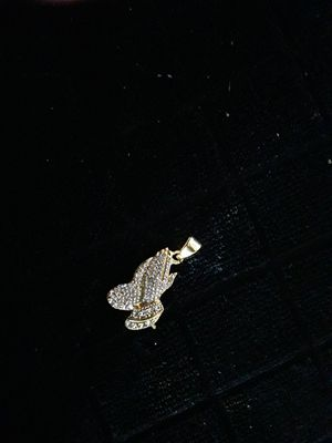 Gold plated CZ praying hands charm. Nice little charm 35 obo for Sale in Mechanicsburg, PA