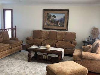Couch, Sofa, Recliner, Ottoman ( 4pieces) for Sale in Staten Island,  NY