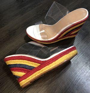 White/Multi color wedge heels SIZES 6-6.5-7-7.5-8-8.5-9-10 for Sale in Ashburn, VA