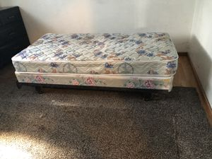 Twin bed box spring and frame for Sale in Salt Lake City, UT