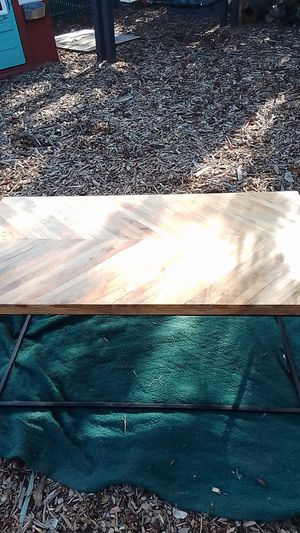 Coffee table herringbone design exotic woods for Sale in Oregon City, OR