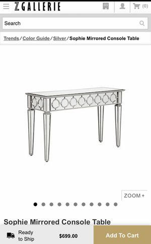 Z Gallerie console Table for Sale in Houston, TX