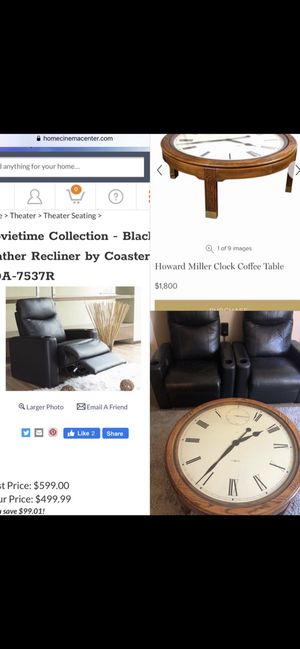 *Delivery* Leather Coaster Theater recliner's $850 both or $1k table for Sale in Midway City, CA