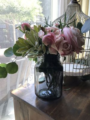 (FLOWERS are not included)10 vases/ candle holder/ or kitchen jar for Sale in Anaheim, CA
