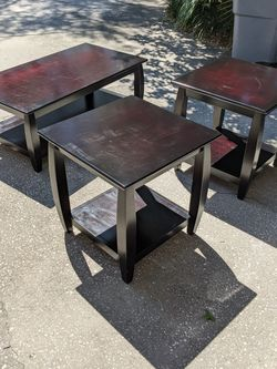 Mahogany Coffee Table And Side Tables for Sale in Lutz,  FL