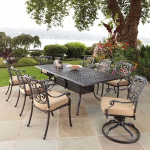 patio table and chair dining set 9 pieces , veranda classics for Sale in Scottsdale, AZ