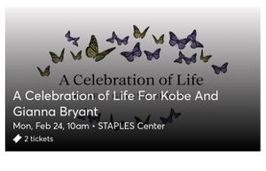Celebration of Life For Kobe and Gianna for Sale in Anaheim, CA