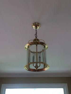 Gold 4 light chandelier - foyer for Sale in Centreville, VA