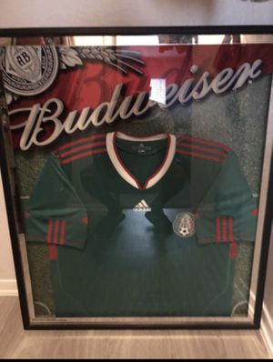 Collective Glass Framed Mexico Jersey $100 Obo for Sale in Dallas, TX