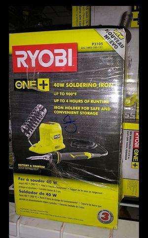 RYOBI 18V CORDLESS 40W SOLDERING IRON TOOL ONLY LIKE NEW for Sale in San Bernardino, CA