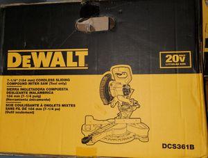 DEWALT 20-Volt Max Lithium-Ion Cordless Miter Saw for Sale in Burlington, NJ