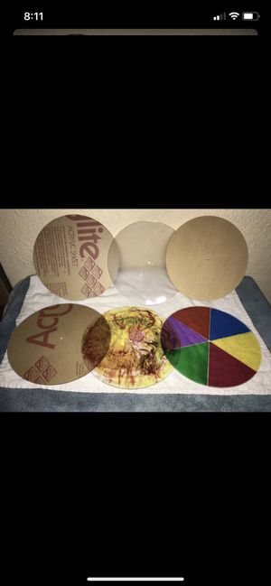 """Six 9"""" acrylic disco discs / wheel for light show projector or other projects for Sale in Hollywood, FL"""