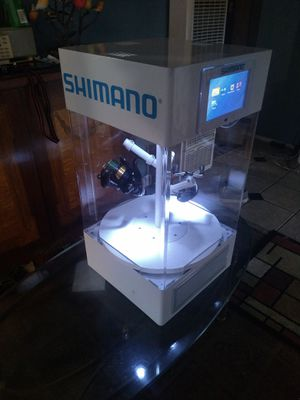 Shimano Electric Reel Display Case with Computer for Sale in Orange, CA