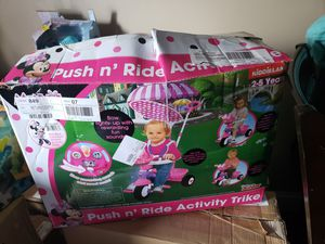 Minnie mouse push and ride tricycle for Sale in Owensboro, KY