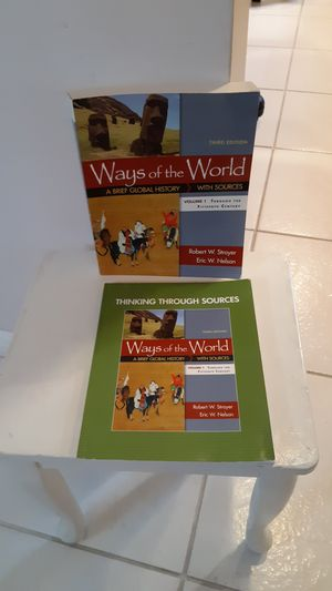 Ways of the world a brief global history with sources volume1, Third Edition, both books for $60 for Sale in Plantation, FL