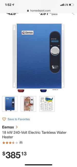 Tankless water heAter for Sale in Fresno, CA