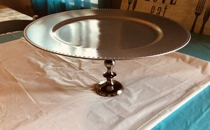 "Round 13"" Silver Cake Stand for Sale in Bluffdale, UT"