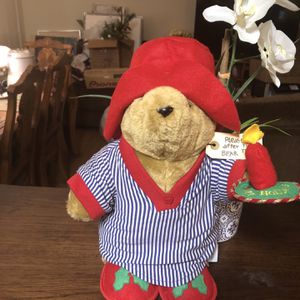 "Vintage Paddington Bear 14"" Stuffed Darkest Peru to London, England for Sale in Alhambra, CA"