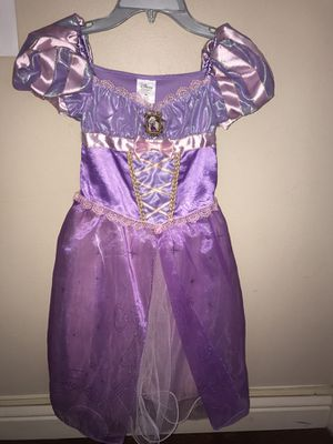 Disney Store Tangled Rapunzel Halloween Costume Dress up Purple Princess Sz 5/6 for Sale in Aventura, FL