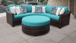 New 4 Piece Outdoor Wicker Patio Furniture Round Lounge Backyard Set for Sale in Chula Vista, CA