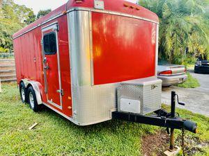 7x16 trailer enclosed Loaded!!! Toy Hauler / Landscape/ Camper PAID $10,499 asking $6200 for Sale in Lake Worth, FL
