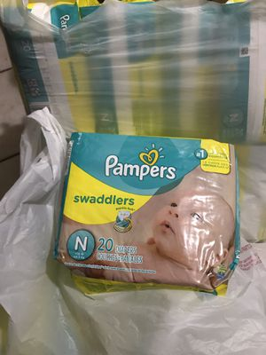 12 packs diapers Pampers Swaddlers Newborn 20ct for Sale in Montebello, CA