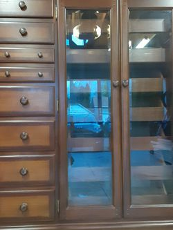 Chest Of Drawers With Glass Doors for Sale in Portland,  OR