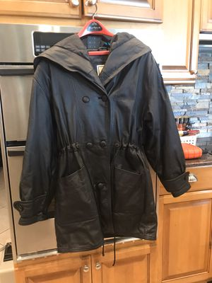 Middlebrook Park Women's Hooded Leather Jacket for Sale in Davie, FL