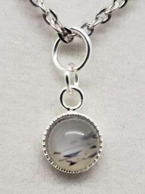 Natural Round Moonstone Necklace for Sale in Justin, TX