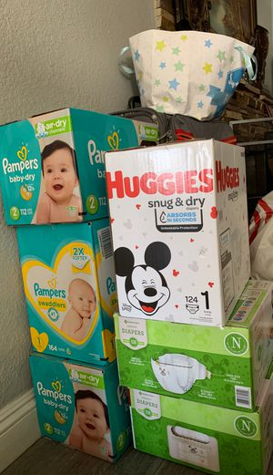 Diapers brand new never opened for Sale in Anaheim, CA
