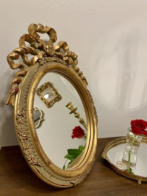 Antique vintage gold standing mirror for Sale in Franklin, WI