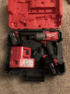 Milwaukee inpact 200$ with 2batterys for Sale in Gunpowder, MD