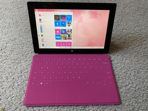 Microsoft Surface pro 1! Windows 10 HOME. 128GB/ 4 GB, i5 processor.Pink Keyboard, charger! for Sale in Schaumburg, IL