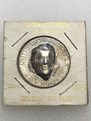 1980 Ronald Reagan on a real JFK Half Dollar HIGH RELIEF for Sale in New Holland, PA