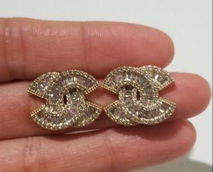 Cz diamond gold studs earrings for Sale in Austin, TX