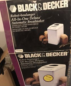 """Brand new Black and Decker bread maker """"ALL IN ONE DELUXE"""" automatic bread maker for Sale in San Leandro,  CA"""