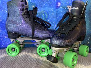 UPGRADED ombré hologram deluxe Chicago roller skates for Sale in Santa Ana, CA