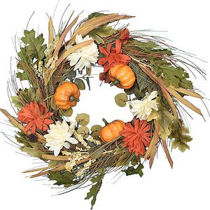 Fall Pumpkins & Flowers Wreath for Sale in The Bronx, NY