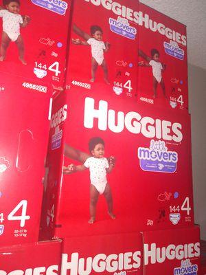 HUGGIES LITTLE MOVERS SIZE 4 $33 CADA 1 CAJA PRECIO FIRME RRECOJER EN SANTA ANA CA NO ADOMISILIO 👁️ for Sale in Santa Ana, CA