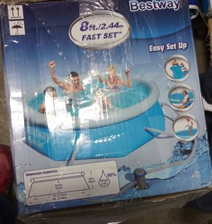 Bestway fast set 8ft above ground pool for Sale in Columbus, OH