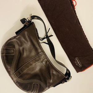 Authentic Coach Clutch Hobo Purse Bag Dark Brown for Sale in Apopka, FL