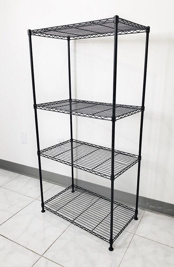 "New in box $35 Small Metal 4-Shelf Shelving Storage Unit Wire Organizer Rack Adjustable Height 24x14x48"""