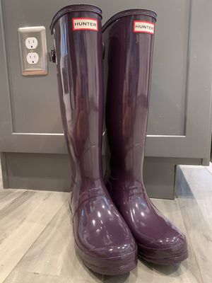 Plum hunter boots for Sale in Fredericksburg, VA