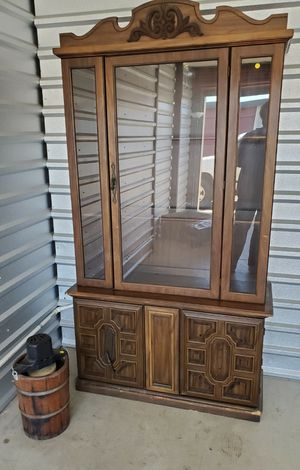 Antique, one piece China cabinet 2 glass for inside. Very small for Sale in Manassas, VA