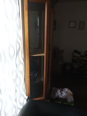 Nice curio cabinet has wood shelf in it but does light up need gone tonight for Sale in Columbus, OH