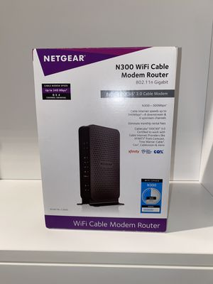 NETGEAR C300 WIFI Cable Modem Router Combo for Sale in Oakland, CA