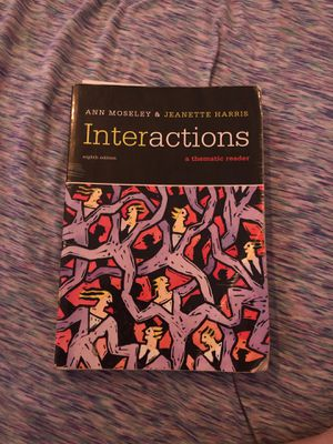 Interactions English edition by Ann Moseley and Jeanette Harris for Sale in Norwalk, CA