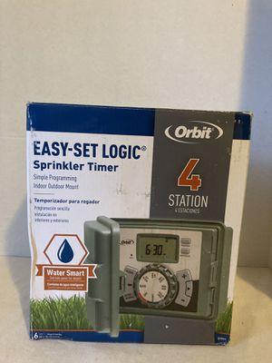Orbit 4-Station Easy-Set Logic Indoor/Outdoor Sprinkler Timer for Sale in Pearblossom, CA